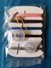 Mini Travel Kit Sewing Kit Buttons Needle & Thread Pocket Size Pins Handy Travel