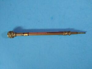 ANTIQUE VICTORIAN GOLD FILLED TELESCOPING PROPELLING MECHANICAL PENCIL