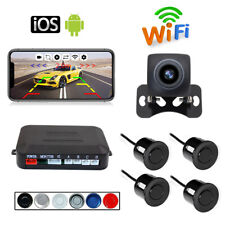 Wireless WIFI Car reversing Parking Radar Rear View Camera with 4xParking Sensor