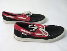 CONVERSE Mens Black & Red Canvas Deck Boat Shoes (Size 13) Skate Streetwear