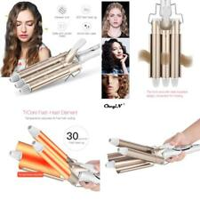 Professional 110-220V Hair Curling Iron Wave Wand Ceramic Triple Barrel Curler