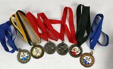 Lot of 6 Vtg Martial Arts Award Medals w/ Ribbons Karate Usa