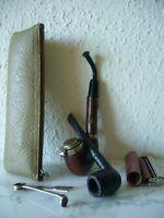 2 x Antik Tabak Holz Pfeife Deckel Tabak Zigaretten Drehmaschine  Pfeifenstopfer