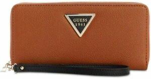 Guess Lauri SLG Women's Large Zip Around Wristlet Purse VZ711746 - Cognac Multi