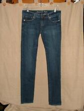 "AE American Eagle dark wash Stretch Cute! skinny jeans 0 x 32"" Super Nice!!"