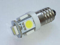 987 E10 LED CAR BULBS COLD WHITE MES LAMPS SMITHS GAUGES NO POLARITY PANEL 12V