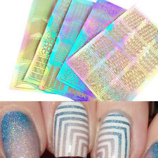 3 Sheet 3D Design Nail Art Transfer Stickers Manicure Tips Decal Decoration Tool