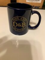 Dave and Buster's Ceramic Coffee Cup Mug Restaurant D&B Dark Navy Blue