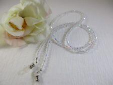 SHIMMERING CRYSTAL AB Swarovski Bi-Cone Shape Beaded Eyeglass Chain~Holder~Cord