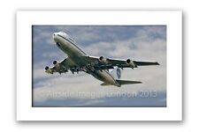 Mounted Aviation Print - Pan Am Boeing 747 (11x14 inch)
