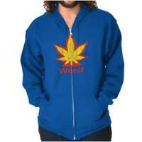 Funny Weed Parody Marijuana Stoner 420 Pot Zipper Sweat Shirt Zip Sweatshirt