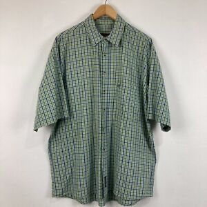 Timberland Mens Button Up Shirt Large Multicoloured Plaid Short Sleeve Collared