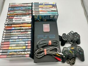 Huge Sony PS2 Fat Console Lot W/ 33 Games (SCPH-39001)