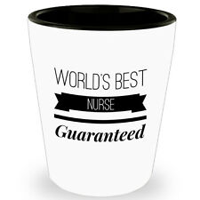 Worlds Best Nurse Funny Cute Shot Glass Tequila Glasses For Nursing Student Gift