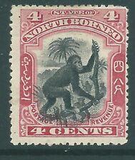 BRITISH NORTH BORNEO 1899 mint 4c ''Orang-Utan'' misplaced centre variety SG99