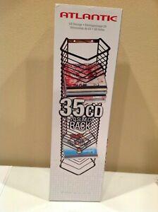 Atlantic Onyx Series 35 CD Storage Tower (Matte Black Steel Wire)