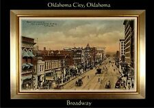 MAGNET TRAVEL Post Card Photo Magnet Broadway OKLAHOMA CITY 1910
