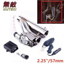 """2.25""""/57mm Electric Exhaust Downpipe Cutout E-Cut Out Valve Controller Remote"""