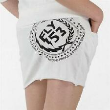 BNWT womans FLY53 White Cotton Mini Skirt 10 logo at the back