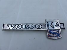 VOLVO 144 S sigle emblème logo insigne monogramme de carrosserie en aluminium