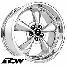 "(4) 17 inch 17x9"" Bullitt Style OE Replica Chrome Wheels Rims fit Mustang 94-17"
