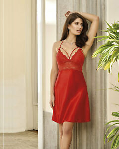 Women Satin Lace Strappy Nightdress Chemise  Babydoll Sizes    European Products