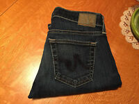 AG ADRIANO GOLDSCHMIED TOMBOY RELAXED STRAIGHT FIT AGED CROP JEANS 26 X 24 NICE!