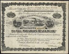 Sharon Railway, $50 shares, 187(1887), capital overprint