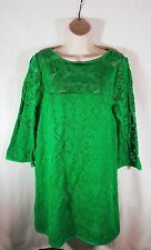 4. Collective Green Lace Lined Sheath Dress 3/4 Sleeves Size 12 NWT