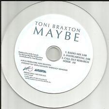 TONI BRAXTON Maybe w/ RARE MIX & INSTRUMENTAL PROMO DJ CD single 2001 USA