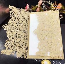 50PC Bulk Wedding Invitations Birthday Invitation Cards Laser Cut 2017 New Lot