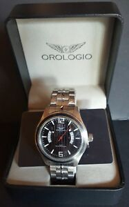 Orologio P711 Collection Men`s Black Wide Watch New with Case