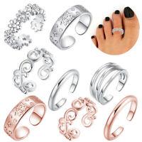 5Stk/Set Zehenring Zehenringe Öffnen Ring Fußring Silber Fußschmuck Mode Schmuck