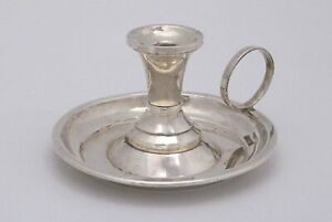 International Sterling Silver Chamberstick Candle Holder