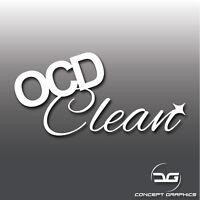 OCD Clean Funny JDM Euro DUB Drift Car Detailing Valeting Vinyl Decal Sticker
