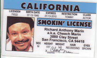 Cheech Marin UP IN SMOKE .. plastic ID card Drivers License -