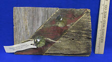 Repurposed Shabby Wood Wooden Shelf Vintage Barn Boards & Knobs Chic Reclaimed