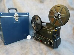 A GOOD WORKING CHINON SP-330 MAGNETIC SOUND SUPER 8 CINE FILM PROJECTOR + CASE