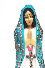 Virgin Mary / Virgen Maria / Mexican Folk Art Wood Sculpture Small