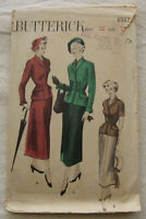 Vintage Jacket & Skirt Sewing Pattern*Butterick 4982*Size 14*Complete*suit*1940s