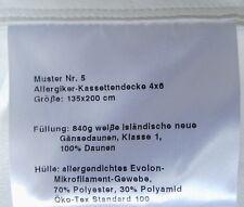 Allergiker Kassetten Decke 135x200. Gänsedaunen. Mit Zierbiese. 4x6 Kassetten