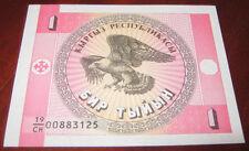 Banconote Asia/Kirghizistan 1 Enp Tbinbih/Mai Circolata