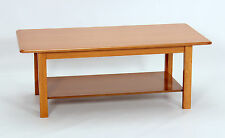 Coffee Table Traditional Rectangle with Shelf Golden Oak Finish