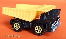 2011 Matchbox Loose Dump Truck Black Yellow Bed King J Construction Multi Pk Ex