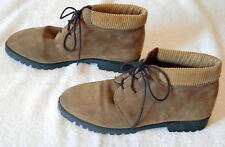 Womens MOBILITY size 6 1/2 WINTER SNOW ANKLE BOOT suede leather lined L37