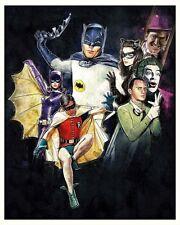 PAUL SHIPPER BATMAN 60s TV SHOW Lt Ed PRINT SAME BAT TIME CHANNEL Adam West