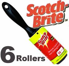 6 x peluches rouleaux Scotchbrite Cellotape collant rouleaux JUMBO taille nouveau fluff bits