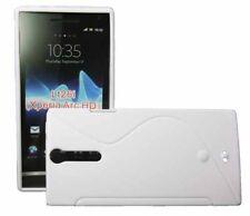 Funda de onda de goma para Sony Ericsson Xperia S Arc HD lt26i en blanco