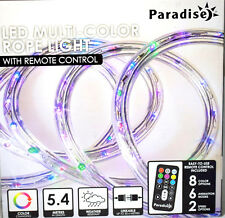 Paradise 18ft /5.4 Metres LED Multi Colour Christmas Rope Lights With R/c