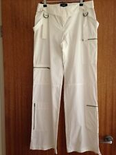 JASPER CONRAN JEANS designer ladies IVORY CASUAL TROUSERS, Size 10, never worn